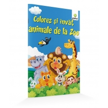 Colorez și învăț animale de la zoo