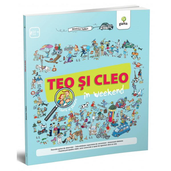 teo si cleo, search and find, editura gama